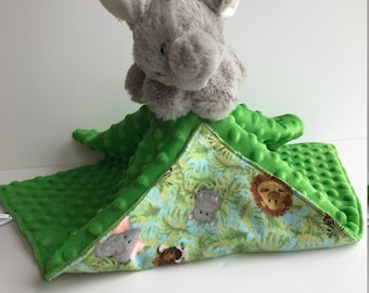 Ultra Plush and Snuggly Elephant Lovey Blanket