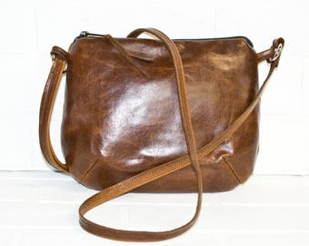 mini sling bag, brown leather purse, reclaimed leather, small purse, purse, small purse, cross body bag, reclaimed, small messenger, bag