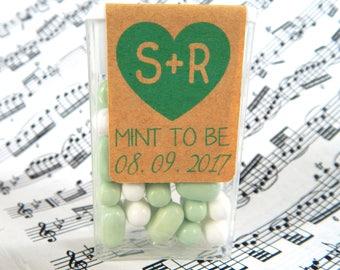 12 - 108 pcs. Personalized Tic Tac Mint Box Wrappers, Mint to Be Stickers, Tic Tac  Mint Labels,  Mint Favor Labels, Wedding, Bridal Shower