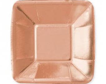 Rose Gold Disposible Appetiser Plates