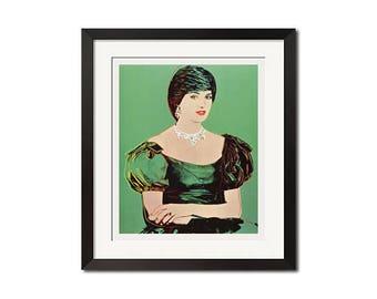 Princess Diana x Andy Warhol Pop Art Poster Print