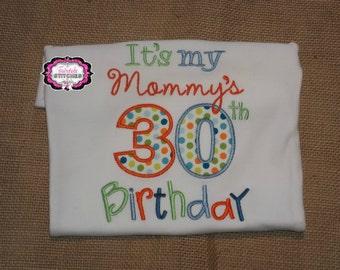 Mommy's Birthday Shirt, Mommy's Birthday, Mommys Birthday