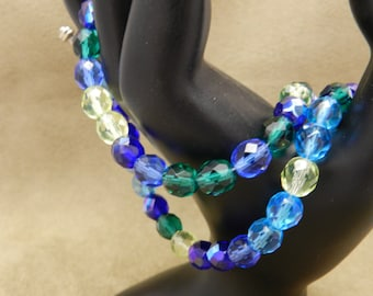 Czech Glass Bead Double Strand Bracelet - SeaTurtle