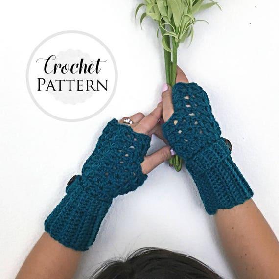 Feminine Lacey Fingerless Gloves CROCHET PATTERN - Crochet ...
