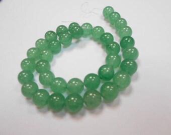 1 strand of 46 beads round 8 mm aventurine