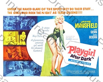 Vintage Rock n Roll Poster Wall Art Print Playgirl After Dark re-print