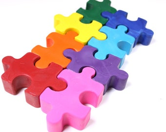 Puzzle Crayons  6 crayon set by Scribblers Crayons