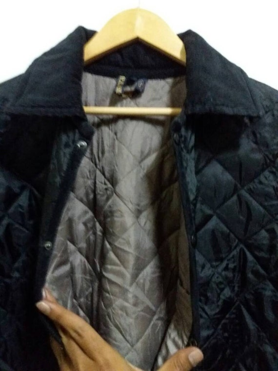 Vintage Lavenham Quilted Jacket button down/fashion designer/medium/casual/made in england dYYmcXH