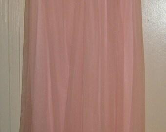 Pink Chiffon Nightgown