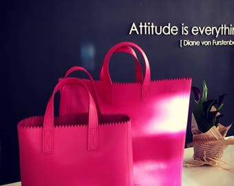 Leather Tote Bag, Pink Leather Handbags, Leather Handbags, Classic Bags, Genuine Leather Bag, Luxury Leather Bag, Leather Bag, Tote Bag,
