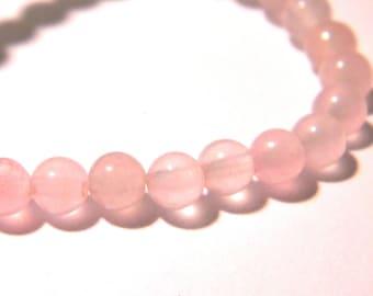jade 4 mm - translucent - round beads - gemstone gemstone - 20 beads pink pale F177 3