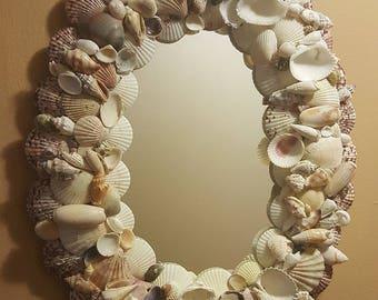 Gorgeous Seashell Mirror Beach Decor Shell Mirror