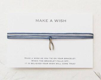 Wish bracelet, make a wish bracelet, wishbone bracelet