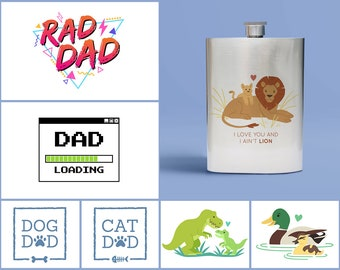 Father/Dad Inspired 8oz Stainless Steel Flask