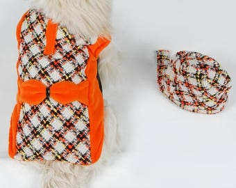 dog jacket warm winter coat made to order and measure made - other fabrics are possible