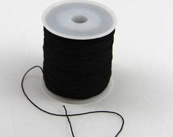 1 m black 2mm elastic thread
