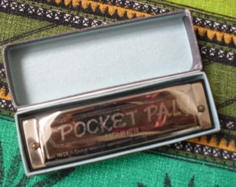 Vintage HOHNER POCKET PAL Harmonica Boxed Retro Harmonica Excellent Condition Made in China with Instruction Sheet