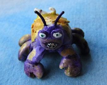 Moana inspired Tamatoa miniature polymer clay figurine