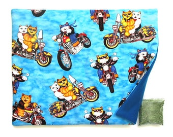 Catnip Mat plus Catnip Cats on Motorcycles Refillable Reversible