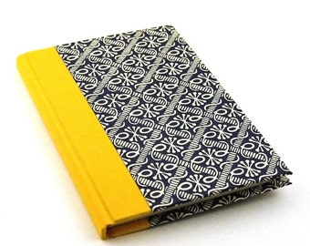 Address Book yellow blue, telephone book, contact list book, for office desk, graphic prints, gift for architects, gift idea for Birthday