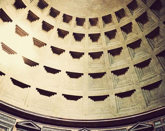 Clearance Sale - Pantheon's Dome - Rome photography, Roman art, home decor, architecture, fine art photography, Italy print
