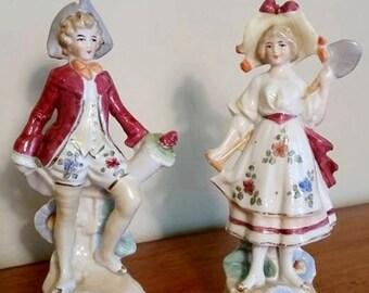 Bud Vases Adorable Victorian Vintage figurines