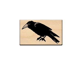 RETIRED Crow Rubber Stamp Bird