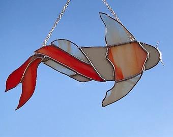 Japanese Koi Carp Stained Glass Suncatcher