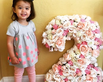 Flower Number Birthday Party Flower Number Smash Cake Photo Decor