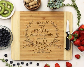 Mother's Day Gift, Custom Cutting Board, Mother's Day, Gift for Mom, Best Mom, Thank You Mom, Personalized Gift, Grandma --21222-CUTB-001