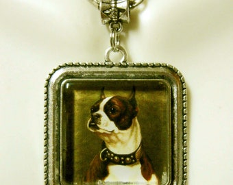 Boxer dog pendant and chain  pendant with chain - DAP05-141