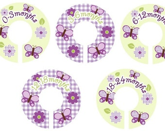 Closet Clothing Dividers - Lavender Butterfly
