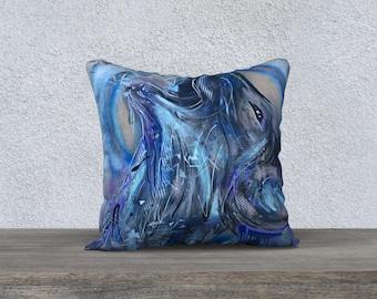 CUSHION Pillow Cover decorative Wolf painting nabz painter modern pet animal decor