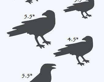 Primitive Crows STENCIL with 9 Crows Total **3 different Crows/3 Different Sizes** for Painting Signs, Airbrush, Crafts, Wall Decor