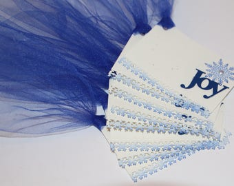 Snowflake Joy Gift Tags Set of 8