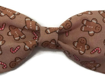 Ginger bread man bow tie, Christmas bow tie, holiday bow tie, festive bow tie, winter bow tie, christmas cookie bow tie, for boys, Christmas