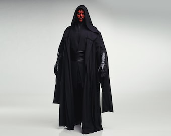 Darth Maul Sith Cosplay Costume from Star Wars Prequel Trilogy, Legion 501, Halloween costume