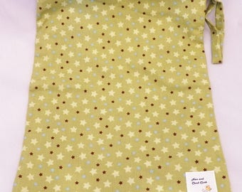 Large Wetbag- Green Stars- 4004