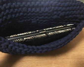 Zero Waste Garter Stitch Knitted Clutch