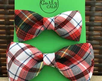 Plaid Father/ Son Bow Tie Set