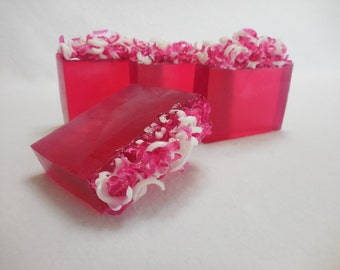 Candy Apple Soap - Pink Apple Soap - Glycerin Soap - Fruity Soap - Valentines Day Soap - Moisturizing Soap - Pink Soap - Fresh Apple Soap