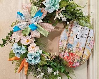 Easter Wreath, Easter Wreath, Grapevine Wreath, Floral Wreath, Spring Wreath, Easter Decor, Happy Easter Decor, Bunny Wreath, Easter