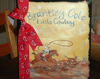 Baby Book | Little Cowboy Baby Memory Book | Custom Baby Book