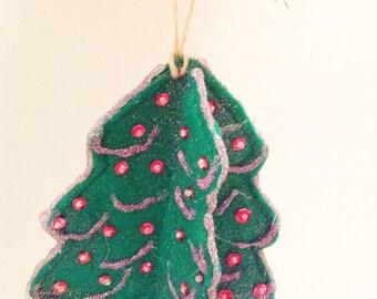 Christmas Ornaments, Felt Christmas Tree, Christmas Decoration, Felt Ornament, Christmas Decor, Felt Tree, Christmas Gift  CTO201