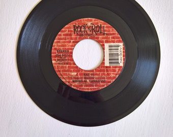 Weird Al Yankovic Vintage 45 rpm Record -- Eat It & That Boy Could Dance --- Classic 1980's Pop Comedy Music -- Hipster Fun Vinyl Collection