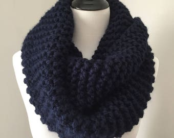 Chunky Knit Cowl, Cozy Cowl, Chunky Infinity Cowl, Circle Knit Cowl