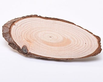 ONE 16cm Plain Oval Natural Wooden Wood Tree Log Slices - WBM1641