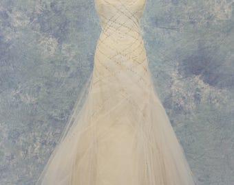 Petite Vintage Style Tulle Wedding Dress SAMPLE SALE!
