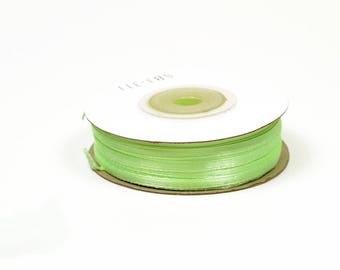 3mm - reel 50 m green Mint light ref 530: satin ribbon