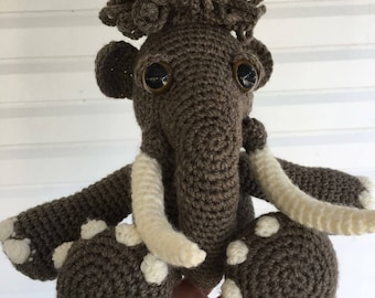 READY TO SHIP: Amigurumi Crochet Mammoth/ Crochet Elephant/ Stuffed toy/ Photo prop